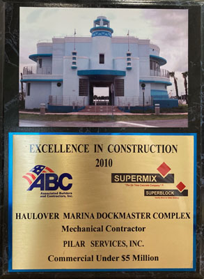 2010 Excellence in Construction Award
