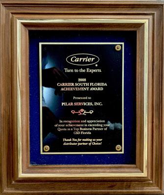 2008 Carrier South Florida Achievement Award
