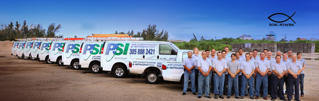 Pilar Services trucks and staff members.